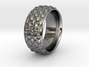 SCALES WIDE RING SIZE 10.5 in Fine Detail Polished Silver