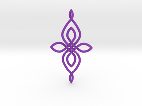 Custom Celtic Knot 01 in Purple Processed Versatile Plastic