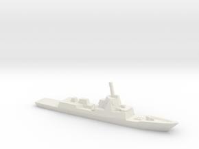 ESPS F-100 class Frigate, w/ barrels, 1/3000 in White Natural Versatile Plastic