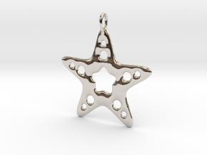 Starfish Pendant in Rhodium Plated Brass