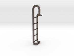 Tender End Ladder in Polished Bronzed Silver Steel