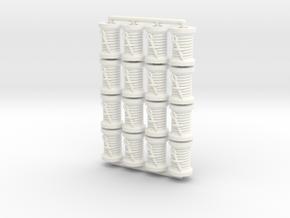 Spool tokens (16 pcs) in White Processed Versatile Plastic