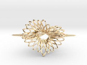 Spinner Floral Tri Twist - 7cm in 14K Yellow Gold