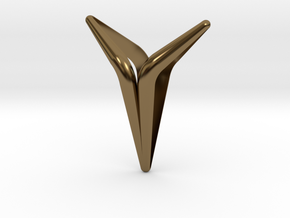 YOUNIVERSAL Smooth & Sharp, Pendant in Polished Bronze