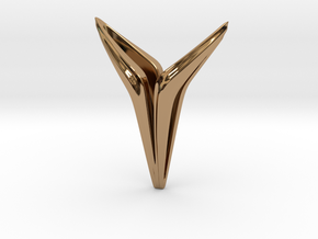 YOUNIVERSAL Smooth, Pendant. Universal Chic in Polished Brass