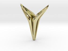 YOUNIVERSAL Smooth, Pendant in 18k Gold Plated Brass