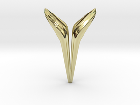 YOUNIVERSAL Big Y!, Pendant. Big Chic in 18k Gold Plated Brass