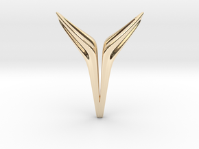 YOUNIVERSAL FREE, Pendant. Sharp Chic in 14K Yellow Gold