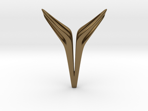 YOUNIVERSAL FREE, Pendant. Sharp Chic in Polished Bronze