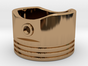 Piston - US Size 8.5 in Polished Brass
