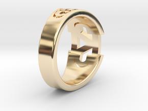 CADDRing-15.0mm in 14K Gold