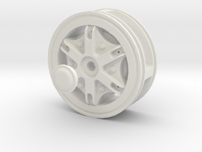 Front-wheel-traction-Dia50mm in White Natural Versatile Plastic