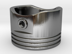 Piston - US Size 8 in Polished Silver