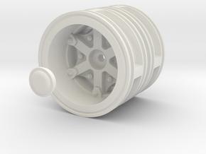 Rear-wheel-twin-tyre-set-Dia50mm in White Natural Versatile Plastic