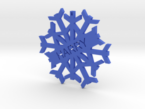 Harry Snowflake Christmas Tree Decoration in Blue Processed Versatile Plastic