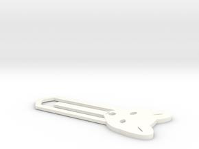 Fox Bookmark in White Processed Versatile Plastic