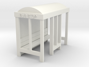 Bus Stop - HO 87:1 Scale in White Natural Versatile Plastic