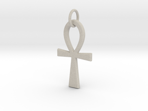 Ankh Pendant or Keychain in Natural Sandstone