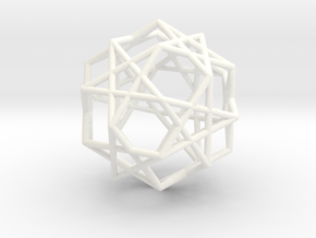 Star Dodecahedron in White Processed Versatile Plastic