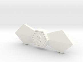Signature Bowtie  in White Processed Versatile Plastic