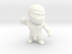 Extra Large Ninja in White Strong & Flexible Polished