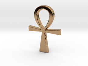 Ankh Pendant in Polished Brass