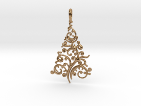 Christmas Tree Pendant 8 in Polished Brass