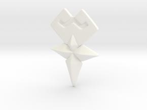 Cosplay Wayfinder Belt Buckle Terra  in White Processed Versatile Plastic
