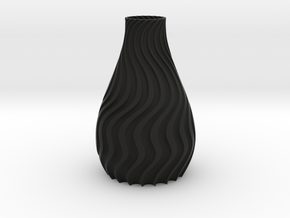 Wavyse Vase in Black Natural Versatile Plastic