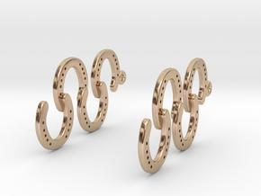 Horseshoe Earring in 14k Rose Gold Plated Brass