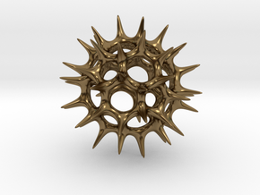 Acrosphaera (Radiolaria) in Polished Bronze