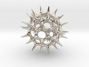 Acrosphaera (Radiolaria) in Rhodium Plated Brass