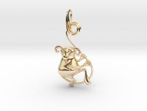 Krampus Pendant in 14K Yellow Gold