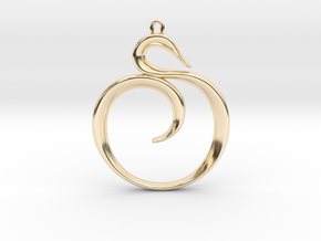 The Spiral Pendant in 14K Yellow Gold