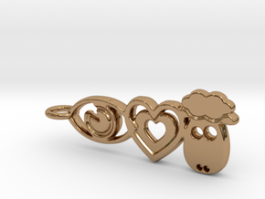 It's Only Love Pendant or Keychain in Polished Brass