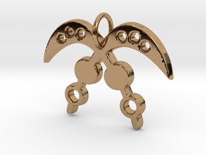 AKOFENA (Adinkra Symbol of Courage and Heroism) in Polished Brass