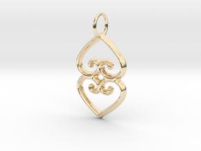 ASASE YE DURU (Adinkra Symbol of Mother Earth) in 14K Yellow Gold