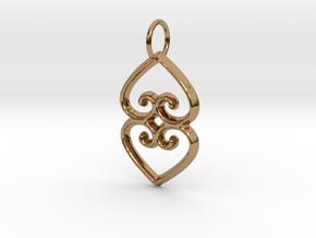 ASASE YE DURU (Adinkra Symbol of Mother Earth) in Polished Brass