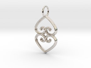ASASE YE DURU (Adinkra Symbol of Mother Earth) in Rhodium Plated Brass