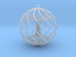 Tree Xmas Ball in Smooth Fine Detail Plastic
