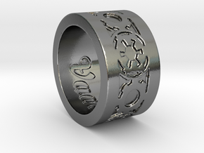 DarkSide Ring delta engraved Size 9 in Polished Silver