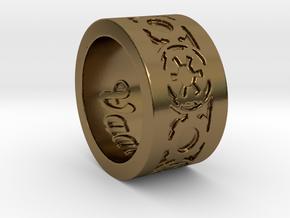 DarkSide Ring delta engraved Size 9 in Polished Bronze