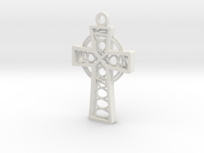 "Celtic Cross 1.5"" in White Strong & Flexible"