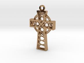 "Celtic Cross 1.5"" in Polished Brass"