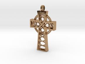 "Celtic Cross 2.25"" in Polished Brass"