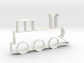 Cookie Cutter - Steam Locomotive in White Natural Versatile Plastic