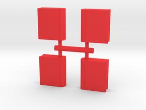 Book Meeple, 4-set in Red Processed Versatile Plastic