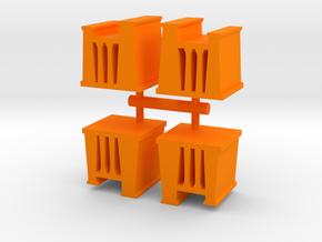 Egypt Temple Meeple, 4-set in Orange Processed Versatile Plastic
