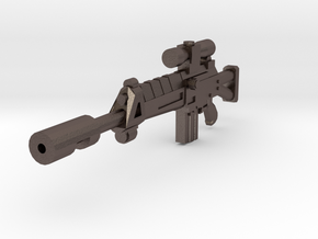 Assault Rifle Sharpshooter in Polished Bronzed Silver Steel