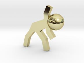 Board Game 'Tsumi Yoga' Block#5 in 18k Gold Plated Brass